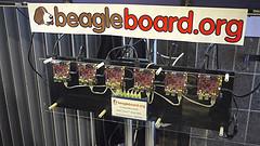 BeagleBoard cluster at FOSDEM