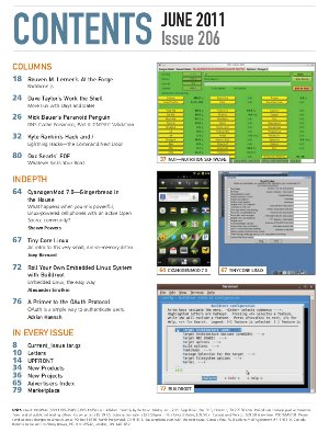 Linux Journal 206 Table of Contents