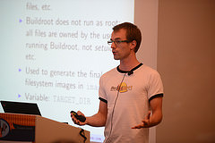 Thomas Petazzoni giving his Buildroot talk