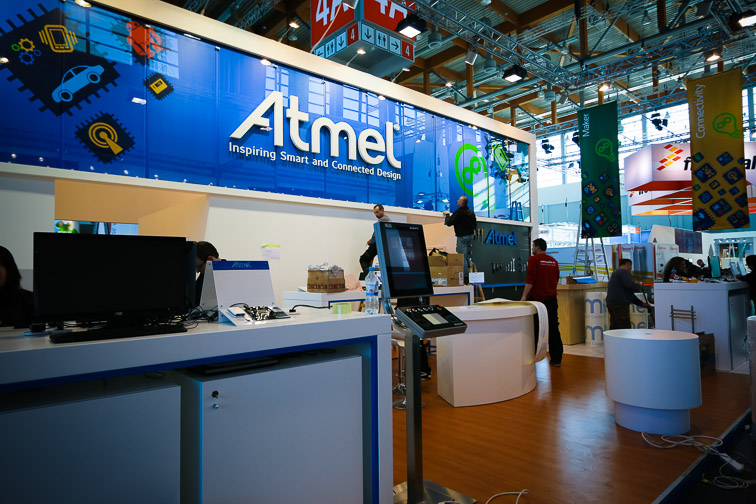 Atmel booth at Embedded World 2014