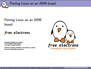 Porting Linux on an ARM board