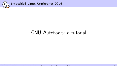 Petazzoni's tutorial on the autotools