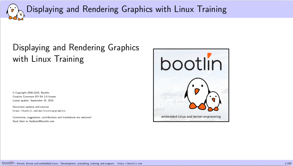 Graphics training