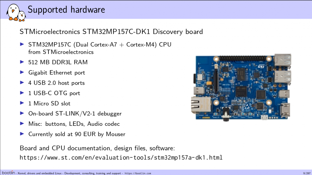 Bootlin Yocto course on STM32MP1